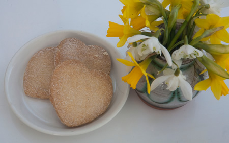 Shortbread and Spring Flowers